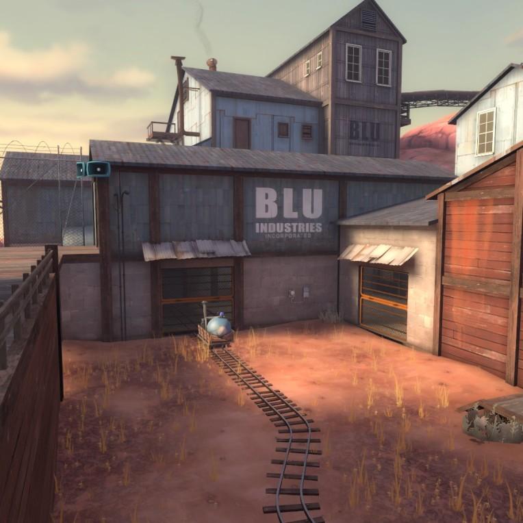 BLU (Attackers) team spawn.